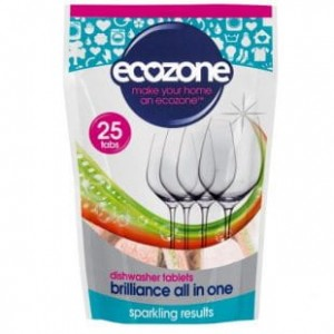 Tabletki do zmywarki 5w1 - brilliance all in one - Ecozone - 25 szt.