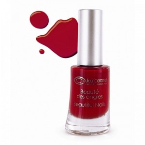 Couleur Caramel - Lakier matowy do paznokci - poinsettia red nr 42 - 8 ml